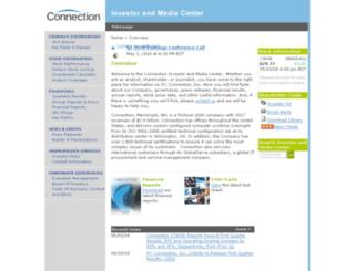 ir.pcconnection.com screenshot