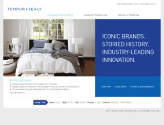 ir.sealy.com screenshot