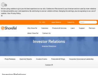 ir.shoretel.com screenshot