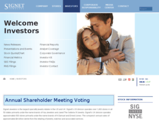 ir.signetjewelers.com screenshot