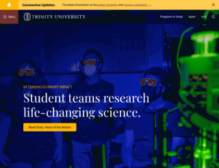 iraa.trinity.edu screenshot