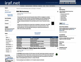 iraf.net screenshot