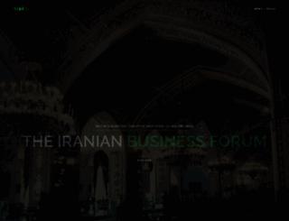 iranianbusinessforum.com screenshot