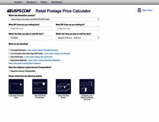 ircalc.usps.com screenshot