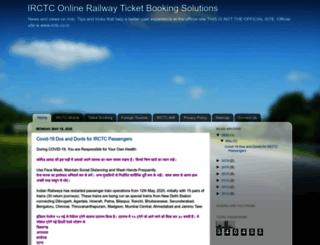 irctc-login-page.blogspot.in screenshot