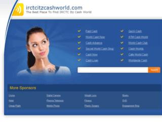 irctcitzcashworld.com screenshot
