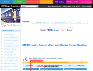 irctcloginregistration.in screenshot