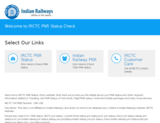 irctcstatuscheck.com screenshot