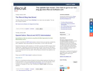 irecruitsoftware.blogspot.com screenshot