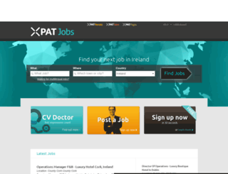 ireland.xpatjobs.com screenshot