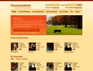 irememberyou.com screenshot