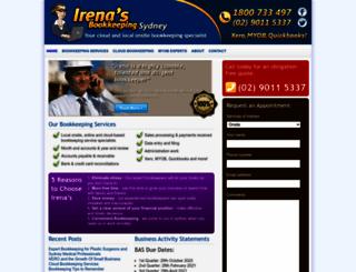 irenasbookkeeping.com.au screenshot
