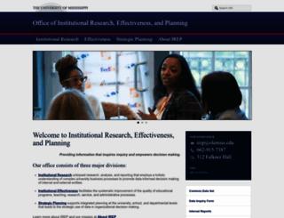 irep.olemiss.edu screenshot