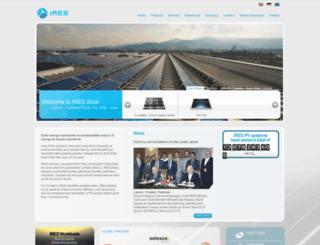 ires-solar.com screenshot