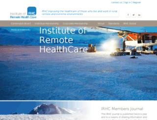 irhc.co.uk screenshot