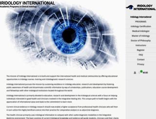 iridologyinternational.com screenshot
