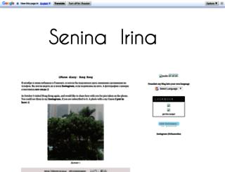 irinasenina.blogspot.com screenshot