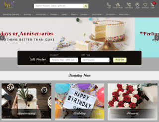 irisflorists.com screenshot