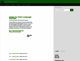 irish-sayings.com screenshot