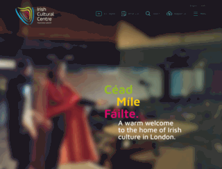 irishculturalcentre.co.uk screenshot