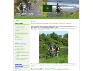 irishcycletours.com screenshot