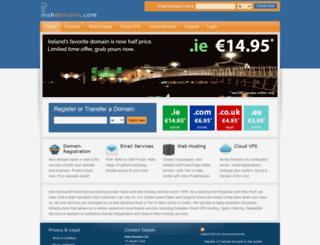 irishdomains.com screenshot