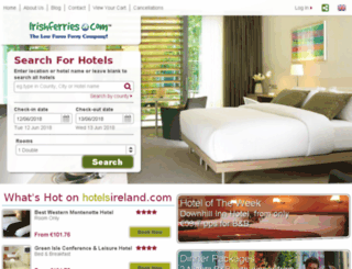 irishferries.hotelsireland.com screenshot
