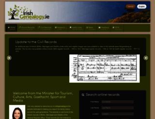 irishgenealogy.ie screenshot