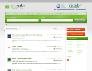 irishhealthdirectory.com screenshot