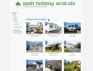 irishholidayrentals.com screenshot