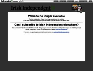 irishindependent.newspaperdirect.com screenshot