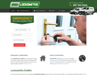 irishlocksmiths.ie screenshot