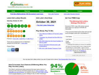 irishlotto.net screenshot