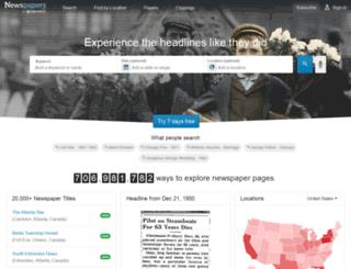 irishnewspapers.com screenshot