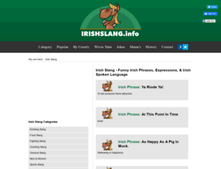 irishslang.info screenshot