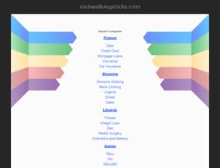irishwalkingsticks.com screenshot