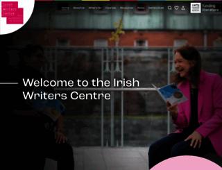irishwriterscentre.ie screenshot