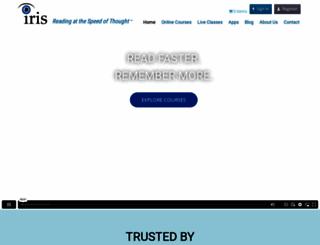 irisreading.com screenshot