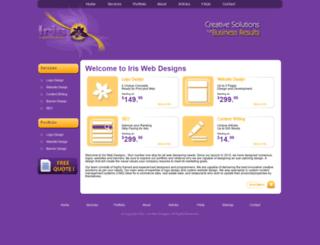 iriswebdesigns.com screenshot