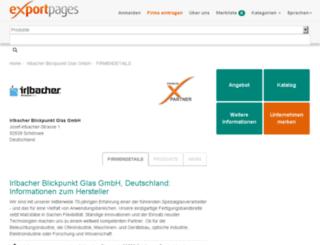 irlbacher.exportpages.de screenshot