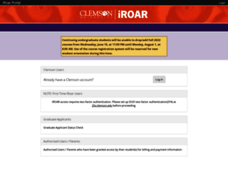 iroar.clemson.edu screenshot