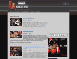 ironboxing.com screenshot