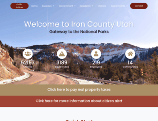 ironcounty.net screenshot