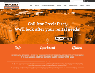 ironcreekrentals.com screenshot