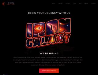 irongalaxystudios.com screenshot