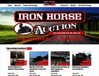 ironhorseauction.com screenshot