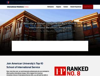 ironline.american.edu screenshot