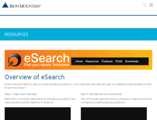 ironmountain-esearch.com screenshot