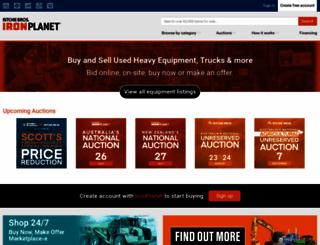 ironplanet.com.au screenshot