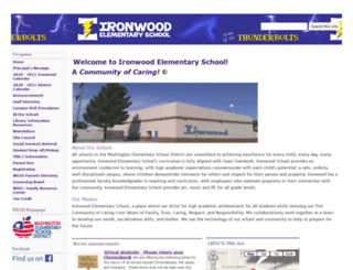 ironwood.wesdschools.org screenshot